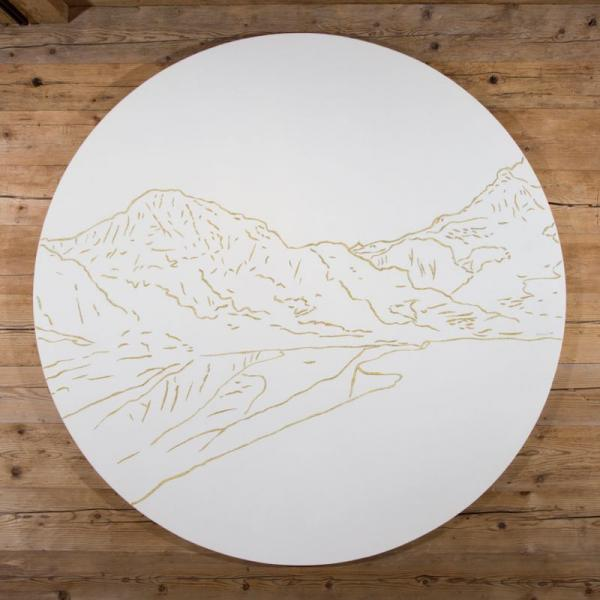 Wall hanging of the Jungfrau summit ( Philippe Cramer )