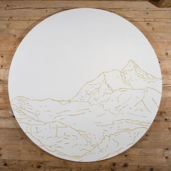 Wall hanging of the Weisshorn summit ( Philippe Cramer )